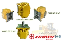 Steering pump and Torqflow pump and Transmission pump for KOMATSU bulldozer