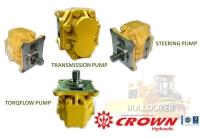 Steering pump and Torqflow pump and Transmission pump for KOMATSU bulldozer