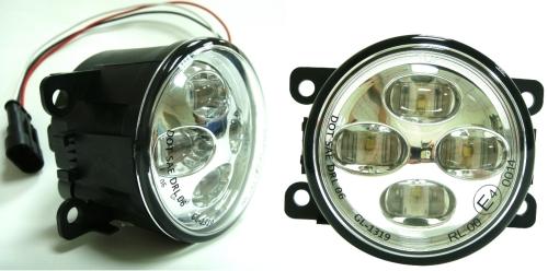 90mm 投射式LED昼行灯-ECE R87, EMC R10, SAE