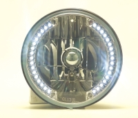 """7""""Round Headlamp with White LED DRL"""