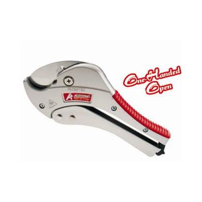单手弹开棘轮式塑管切刀
