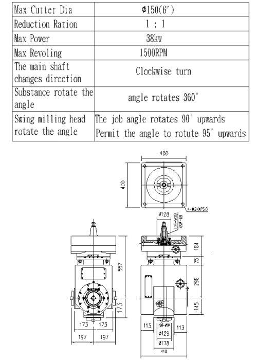 Linear-swing Universal Milling Head / Universal Milling Head