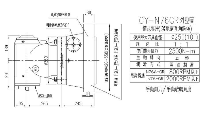 ANGULAR head for floor-type boring machine