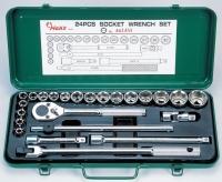 24 Pcs Socket Wrench Set