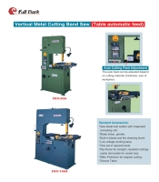 Cens.com Table Auto Feed-Vertical Metal Cutting Bandsaw FULL MARK EQUIPMENT CORP.
