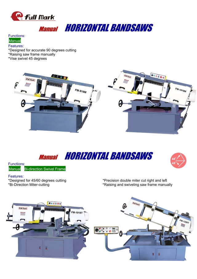 Manual Horizontal Bandsaw