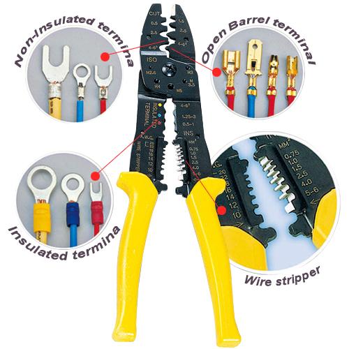 Crimping Tool & Wire Stripper Multi-purpose 8 in  1