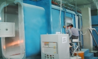 Powder-recycling Spray Booth