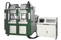 Two Color Vertical Type Automatic Plastic Injection Molding Machine