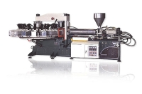 Rotary Type Automatic Air Blowing Plastic Shoes Injection Molding Machine