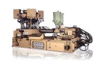 旋转式全自动二色拉帮鞋底熔合射出成型机