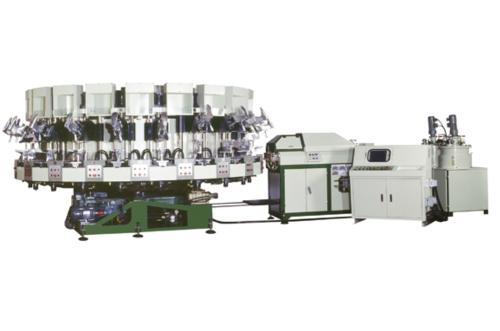 旋转式全自动PU单密度射出成型机