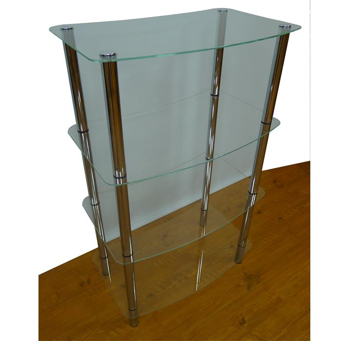 四層式玻璃架(4支鐵管)