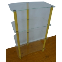 4-Layer Glass Shelf (3 Iron Tubes)