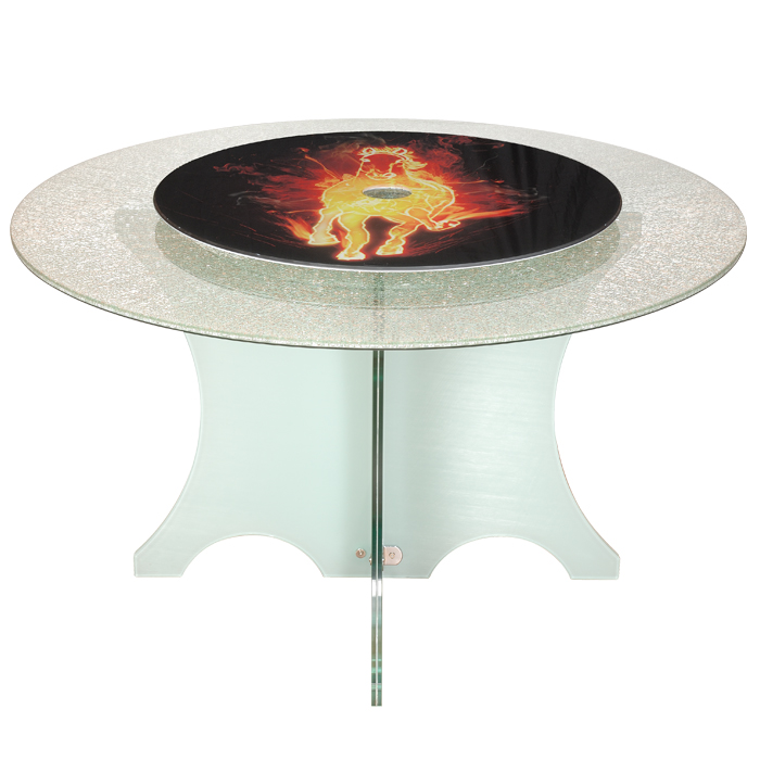 Round Dining Table (With Small Floral Pattern)