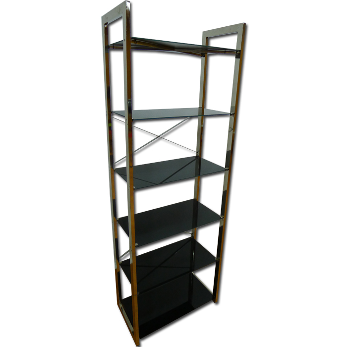 Steel Rack With Glass Shelving