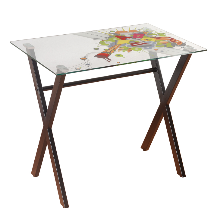 Desk With X-Shaped Base