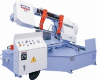 Semi-Auto Horizontal Band saw-Power Turning Table Mitre Cutting