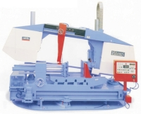 Cens.com Double Column Heavy Duty Semi-Auto Horizontal Band saws- Power Turning Table Mitre Cutting MEGA MACHINE CO., LTD.