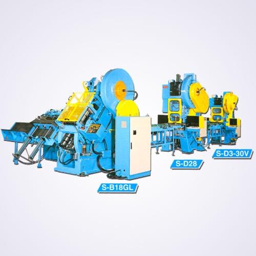 自動二片罐身拉製機+立式自動沖床機