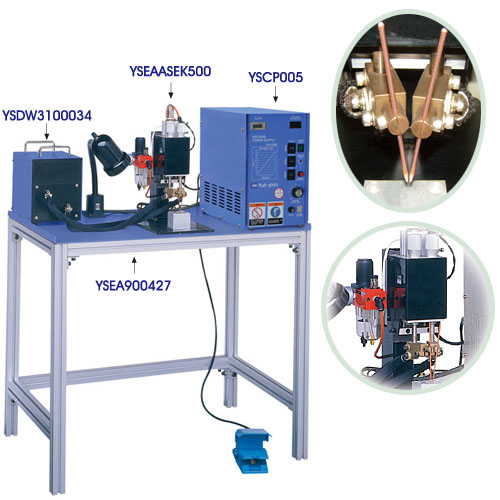 電容型空壓式雙頭單面點焊熔接機