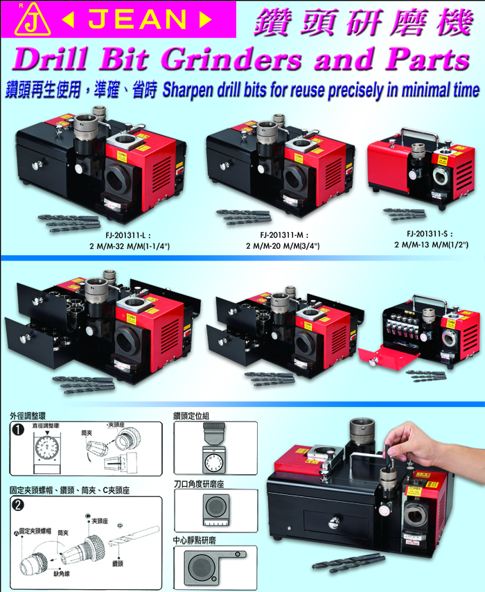 Drill Bit Grinders And Parts