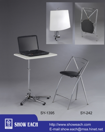 笔电吧台桌+高脚椅 SY-1395+242