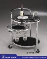 三重餐車附輪(首層為紅酒架/冰筒架) SY9341