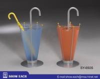 Cens.com 烤亮灰傘型雨傘架+(天空藍/橘色)塑膠片 SY-650SK 松誼實業股份有限公司