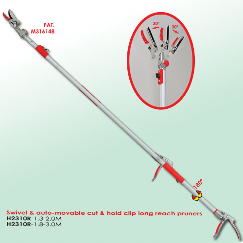 Swivel & Auto-movable Cut & Hold Clip LongReach Pruners