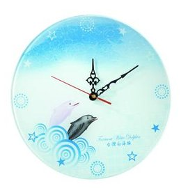 白海豚圆形钟