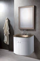 Glass Washbasin Set&Kiln Formed glass mirror
