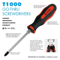 GO-THRU SCREWDRIVERS