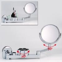 Vanity mirror set w/heavy-duty suction cup