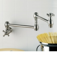 Wall Mount Pot Filler-Double Jointed With Cross Handle