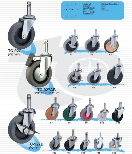 輕型活動輪子(插梢)     一般荷重型腳輪  (Light Caster)