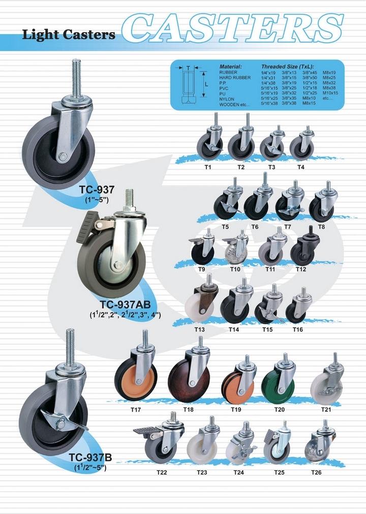 輕型活動輪子(螺絲)  |  一般荷重型腳輪  (Light Caster)