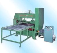 Metal stretch net making machine