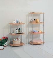 三層木板衛浴架