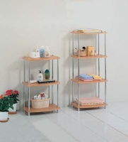 WOOD TOP 4-TIER RACK