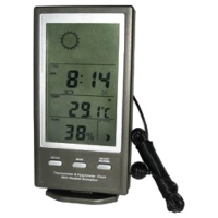 Thermometer & Hygrometer Clock with Weather Animation