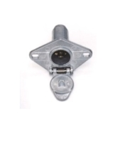 6- POLE  TRAILER  CONNECTOR   TRUCK   END  , METAL