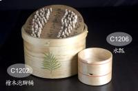 桧木泡脚桶+水瓢