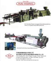 Cens.com PVC/PP Corrugation/Flat Sheet/Film Making Machine RAI HSING PLASTICS MACHINERY WORKS CO., LTD.