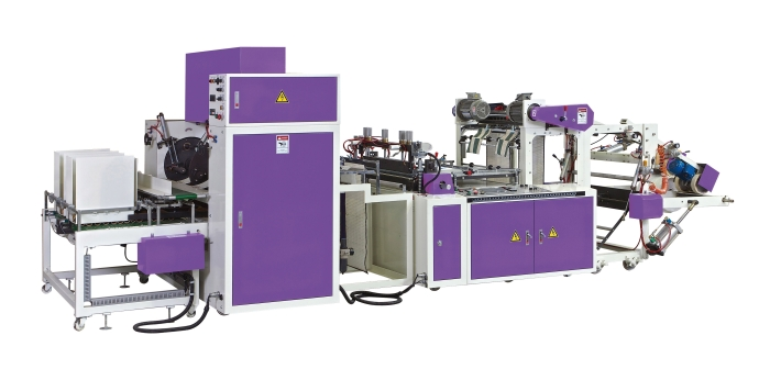 AUTOMATIC SEALING PERFORATING AND DOUBLE WINDING BAG ON ROLL MAKING MACHINE