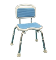 Guiding mat shower chair