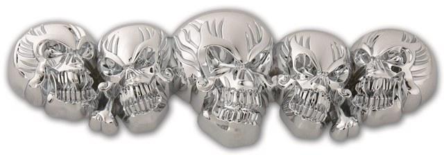 Multi skull 3D emblem