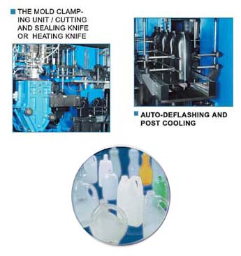 CONTINUOUS TYPE BLOW MOULDING MACHINE