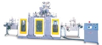 TWO-CAVITY TWIN-STATION BLOW MOULDING MACHINE FOR2L-5L BOTTLES CONTINUOUS EXTRUSION TYPE