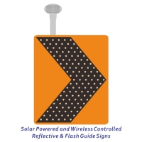 Solar Energy/Wireless Controlled Reflective & Flash Guide Signs
